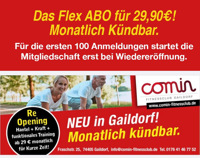 comin Fitness ad